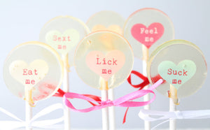X rated Convo  Message small round lollipops  8 PCS