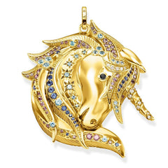 Gold Unicorn Pendant