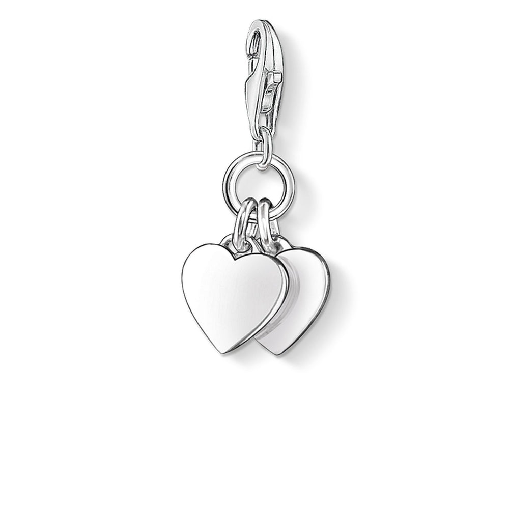 "Charm Pendant ""Two Hearts"""