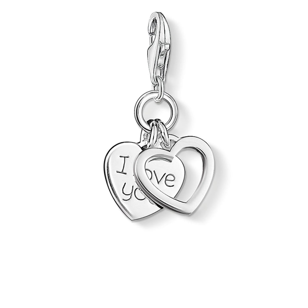 "THOMAS SABO Charm Pendant ""I LOVE YOU Hearts"""