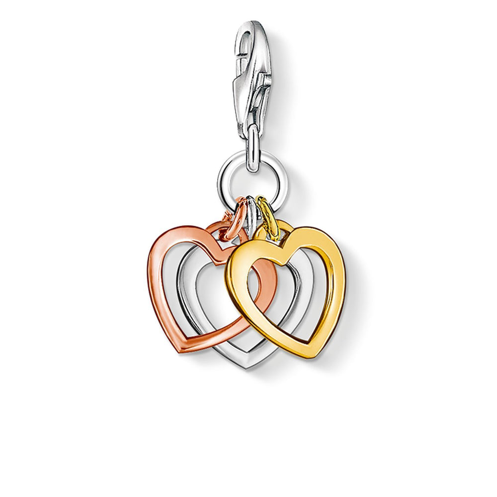 "THOMAS SABO Charm Pendant ""Three Hearts"""