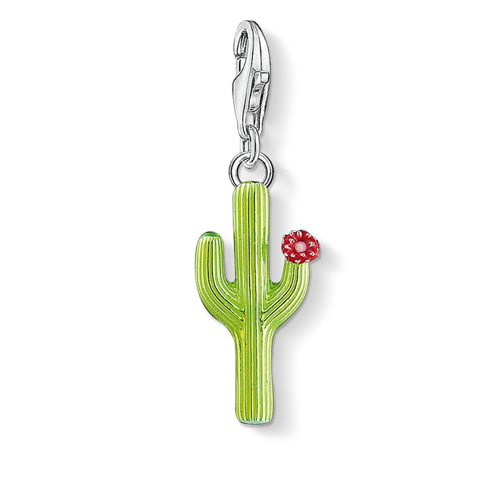"THOMAS SABO Charm Pendant ""Green Cactus With Flower"""