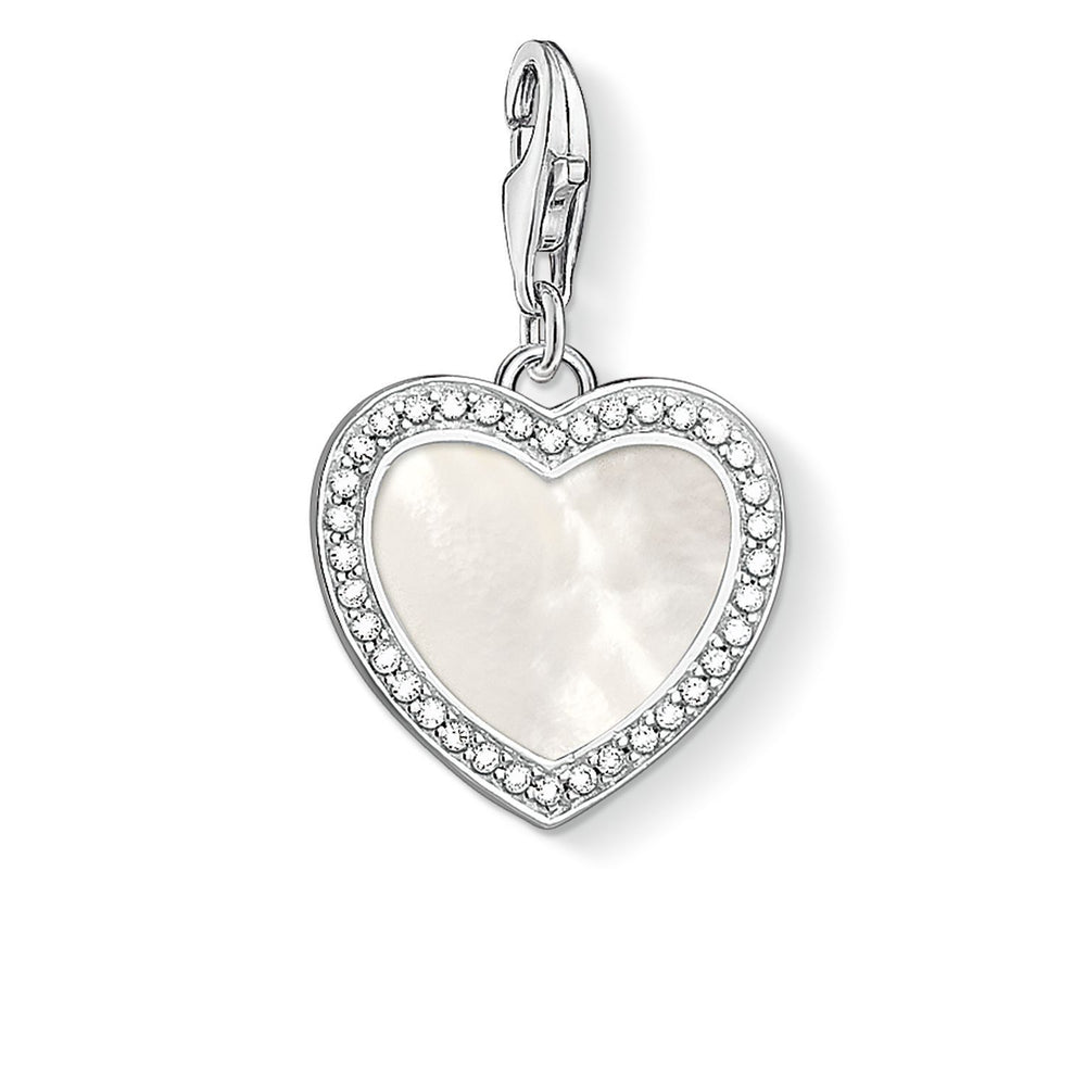 "THOMAS SABO Charm Pendant ""Heart With Mother-Of-Pearl """