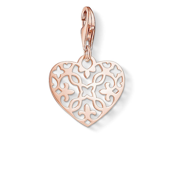 Charm Pendant 'Arabesque Heart'