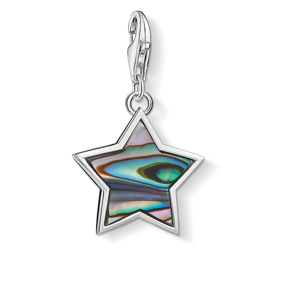 "THOMAS SABO Charm Pendant ""Star Mother-Of-Pearl Turquoise"""