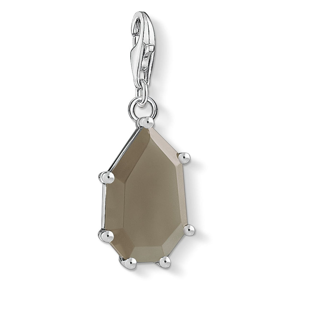 "THOMAS SABO Charm Pendant ""Brown Stone"""