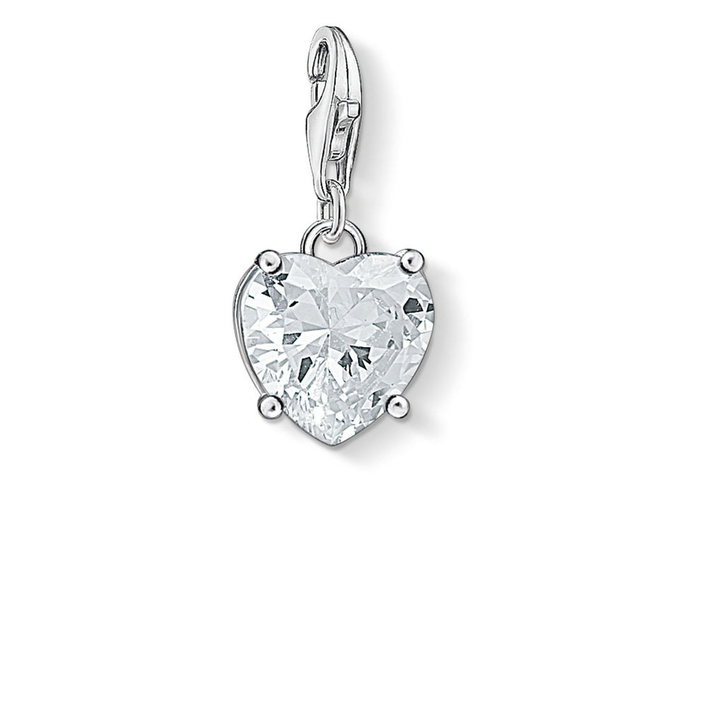 "THOMAS SABO Charm Pendant ""Heart With White Stone"""