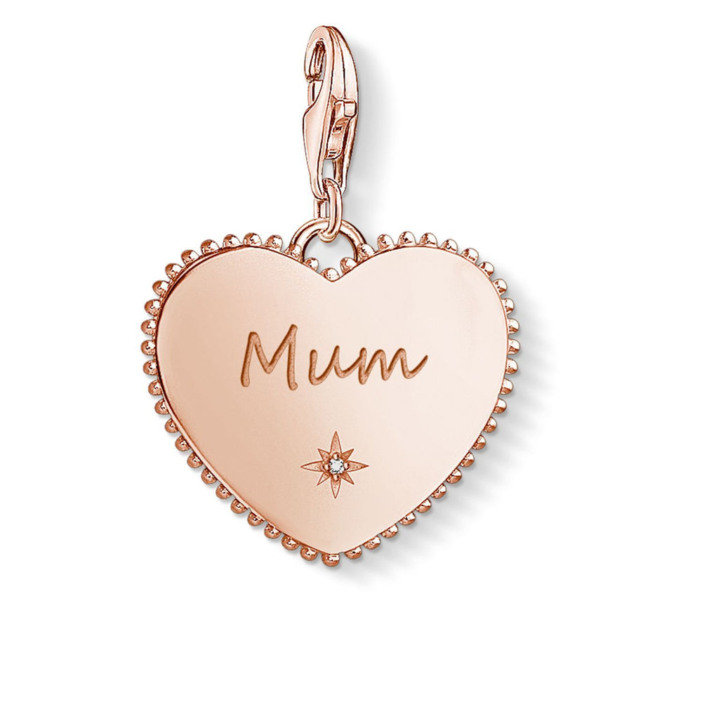 "THOMAS SABO Charm Pendant ""Heart Mum Rose Gold"""