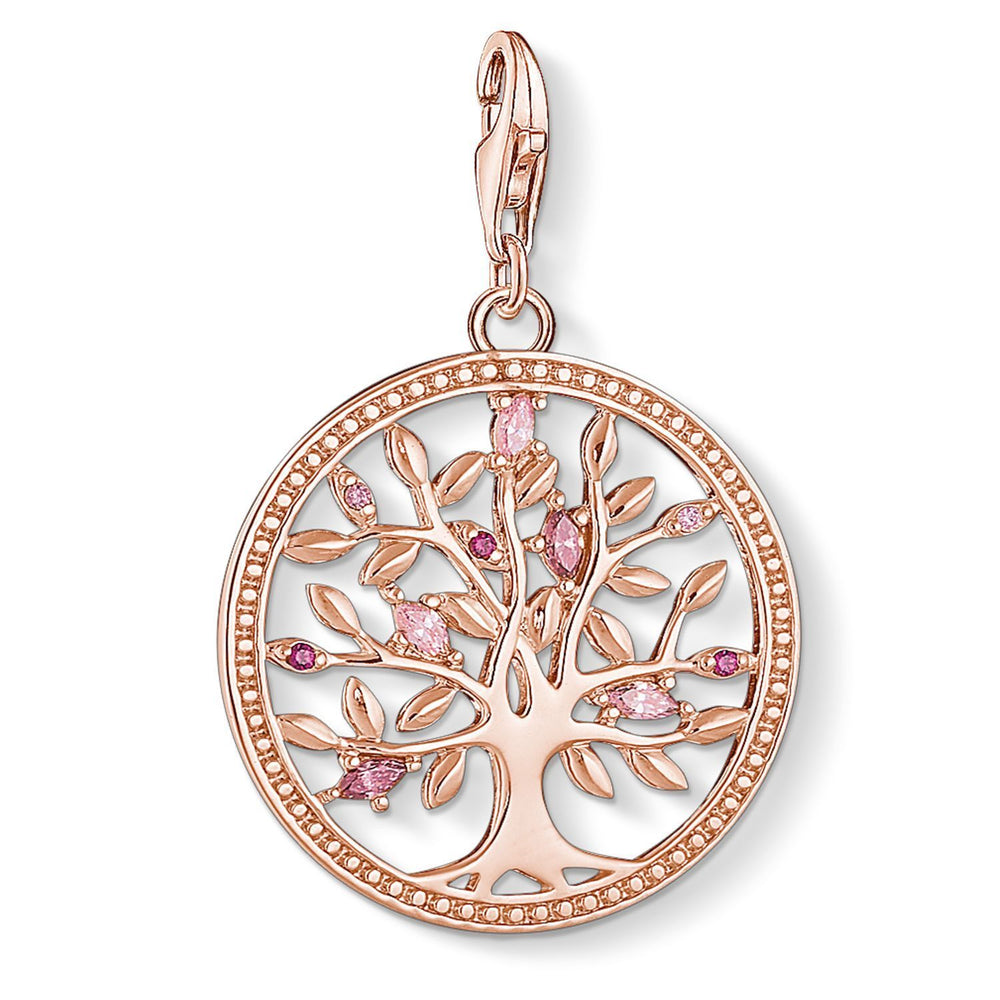 "THOMAS SABO Charm Pendant ""Tree of Love Pink"""