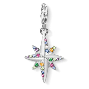 Charm Pendant Colourful Star, Silver | Thomas Sabo