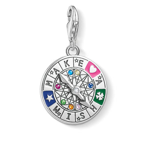 Charm Pendant Wheel Of Fortune - Make A Wish | Thomas Sabo