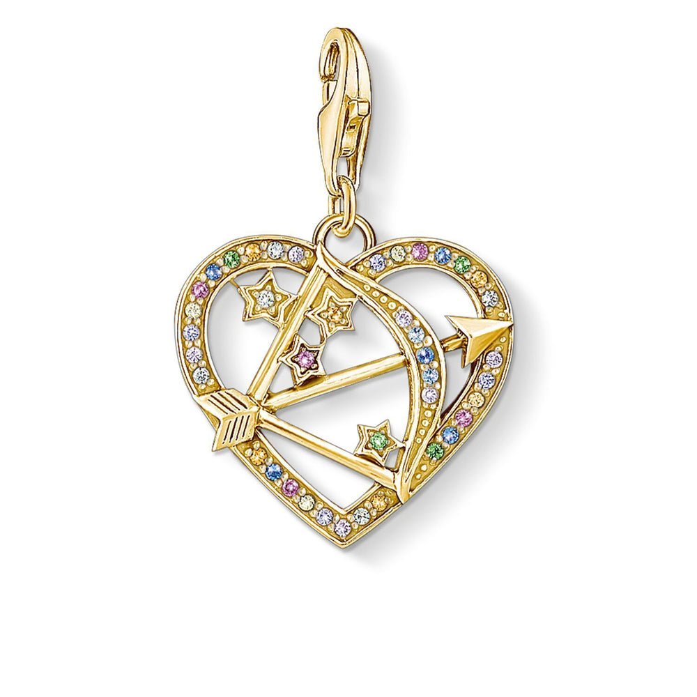 Charm Pendant Cupid's Arrow, Gold | Thomas Sabo