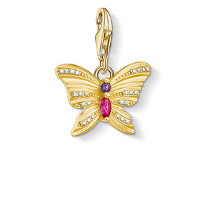 Charm Pendant Butterfly Gold | Thomas Sabo