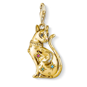 Charm Pendant Cat Constellation Gold