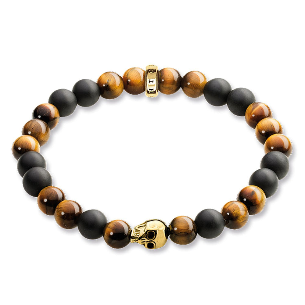 "THOMAS SABO Bracelet ""Brown Skull"""