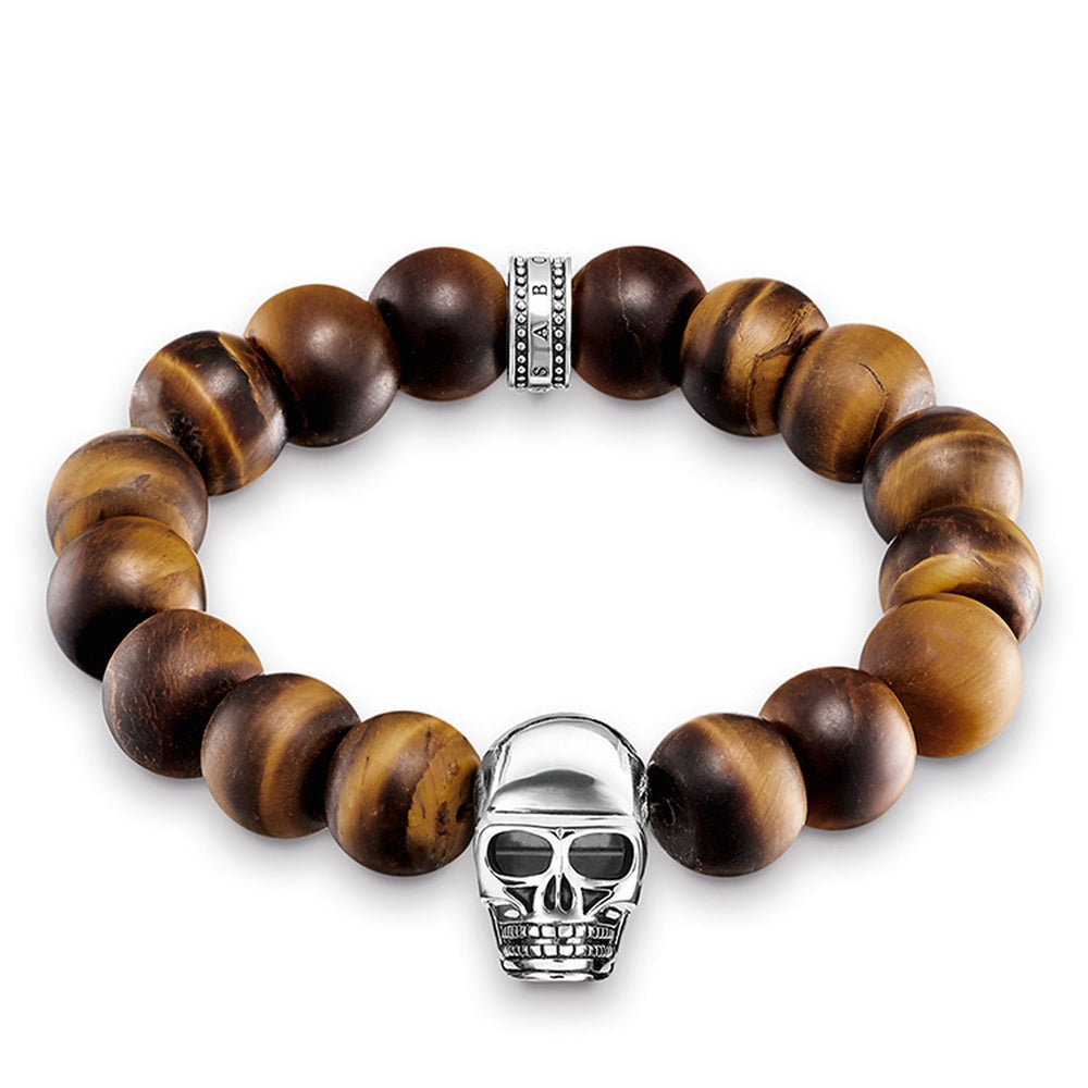 "THOMAS SABO Bracelet ""Power Bracelet Brown Skull"""