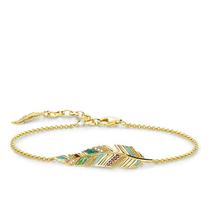 Gold Plated Feather Bracelet | Thomas Sabo