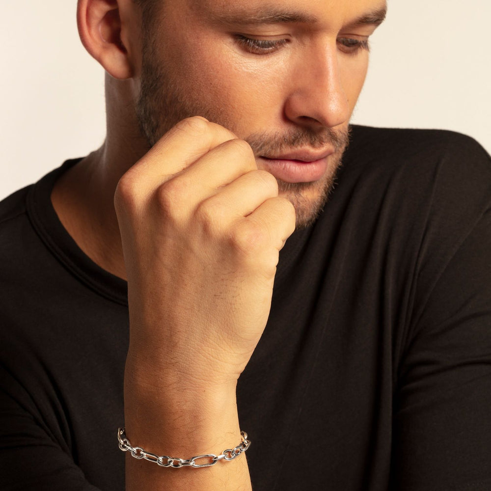 Striking Design Blackened Sterling Silver Bracelet | Thomas Sabo
