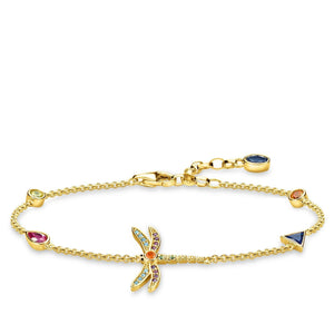 Gold Plated Dragonfly Bracelet | Thomas Sabo
