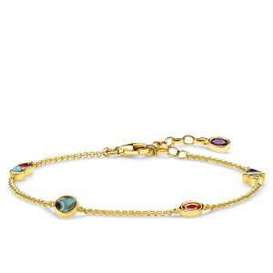 Gold Plated Colourful Stones Paradise Bracelet | Thomas Sabo