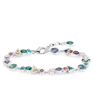 Boho Sterling Silver Colourful Stones Bracelet | Thomas Sabo