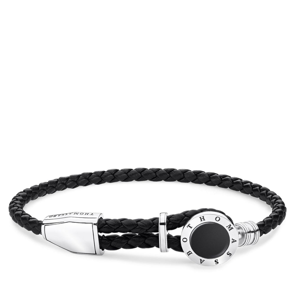 "THOMAS SABO Leather Strap ""Disc Black"""