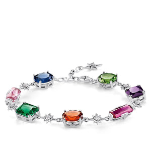 Bracelet Colourful Stones With Silver Stars | Thomas Sabo