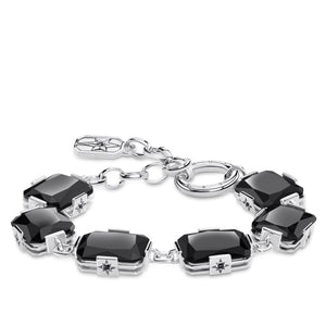 Bracelet Large Black Stones | Thomas Sabo