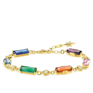 Bracelet Colourful Stones With Golden Stars | Thomas Sabo