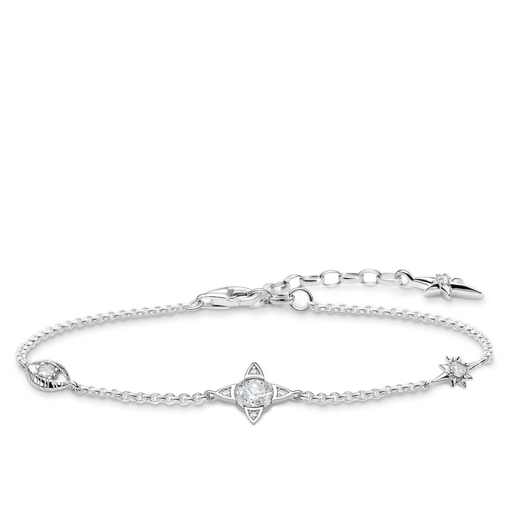 Silver Small Lucky Charms Bracelet with White Stones | Thomas Sabo