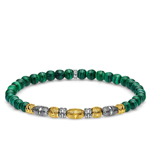 Bracelet Two-tone Lucky Charm, Green | Thomas Sabo