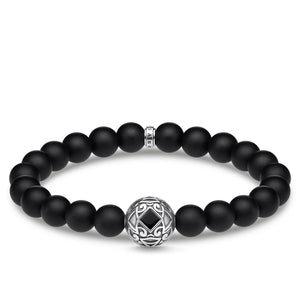Black Obsidian Beaded Ornament Bracelet | Thomas Sabo