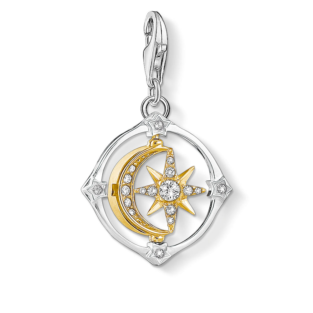 Charm Pendant Moveable Moon & Star
