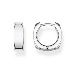 Hoop Earrings Minimalist Silver | Thomas Sabo