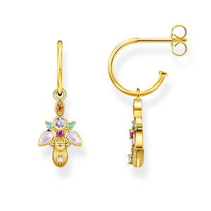 Hoop Earrings Bug Gold | Thomas Sabo