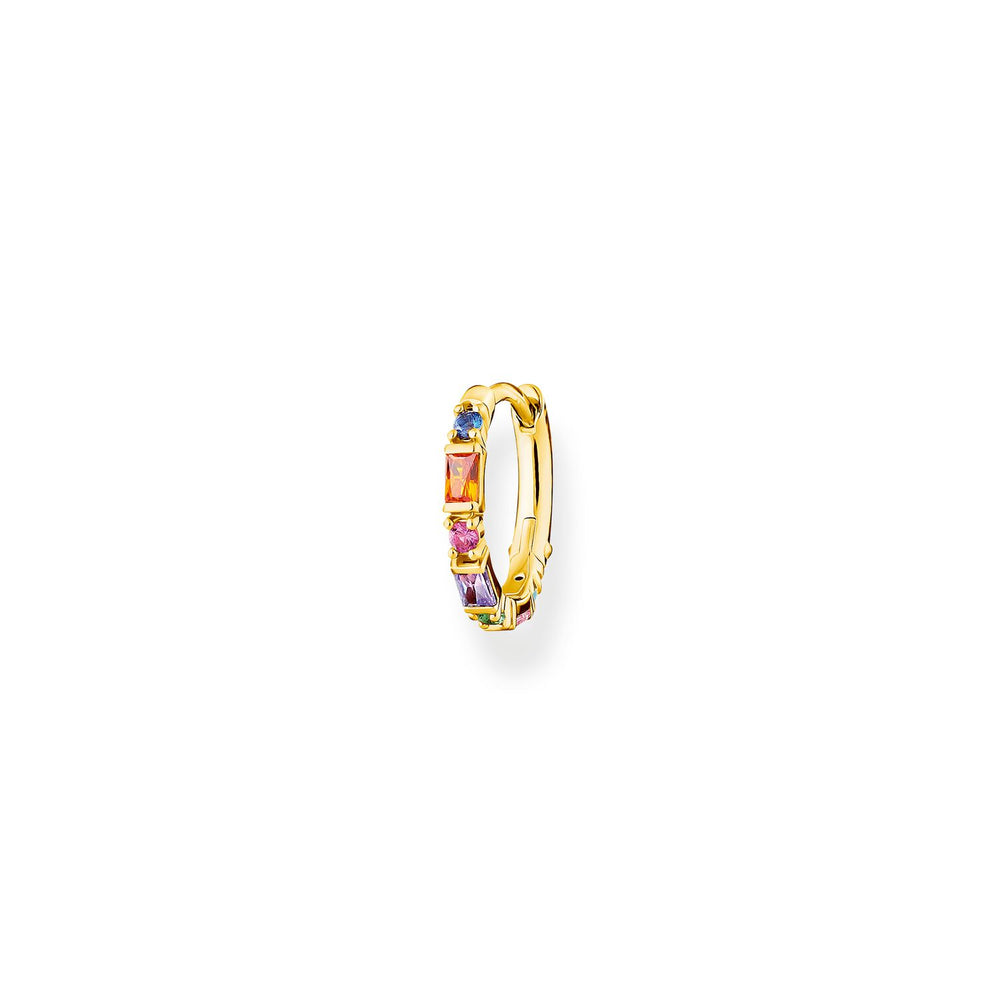 Single Hoop Earring Colourful Stones Gold | Thomas Sabo Australia