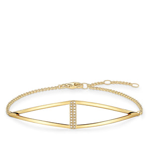 Gold Plated Triangle Bracelet | Thomas Sabo