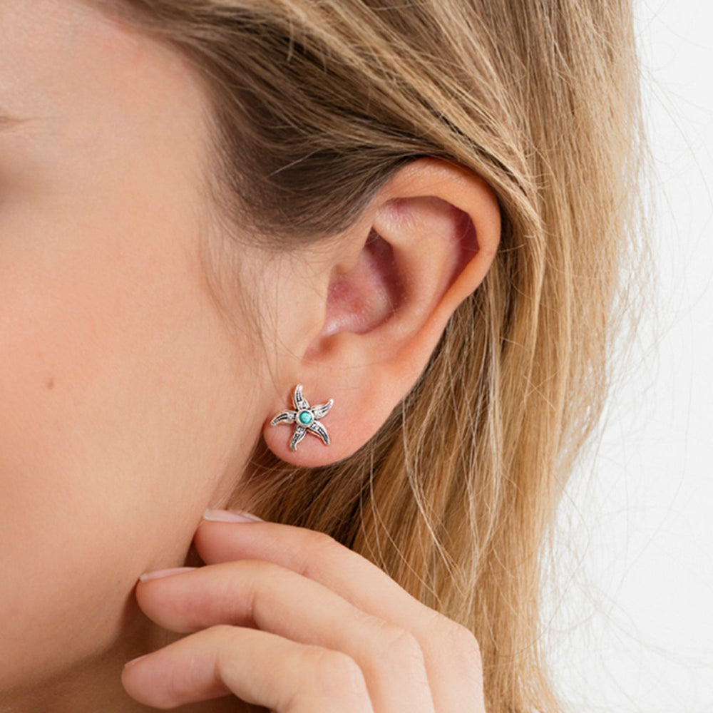 "Ear Studs ""Ethnic Starfish"""
