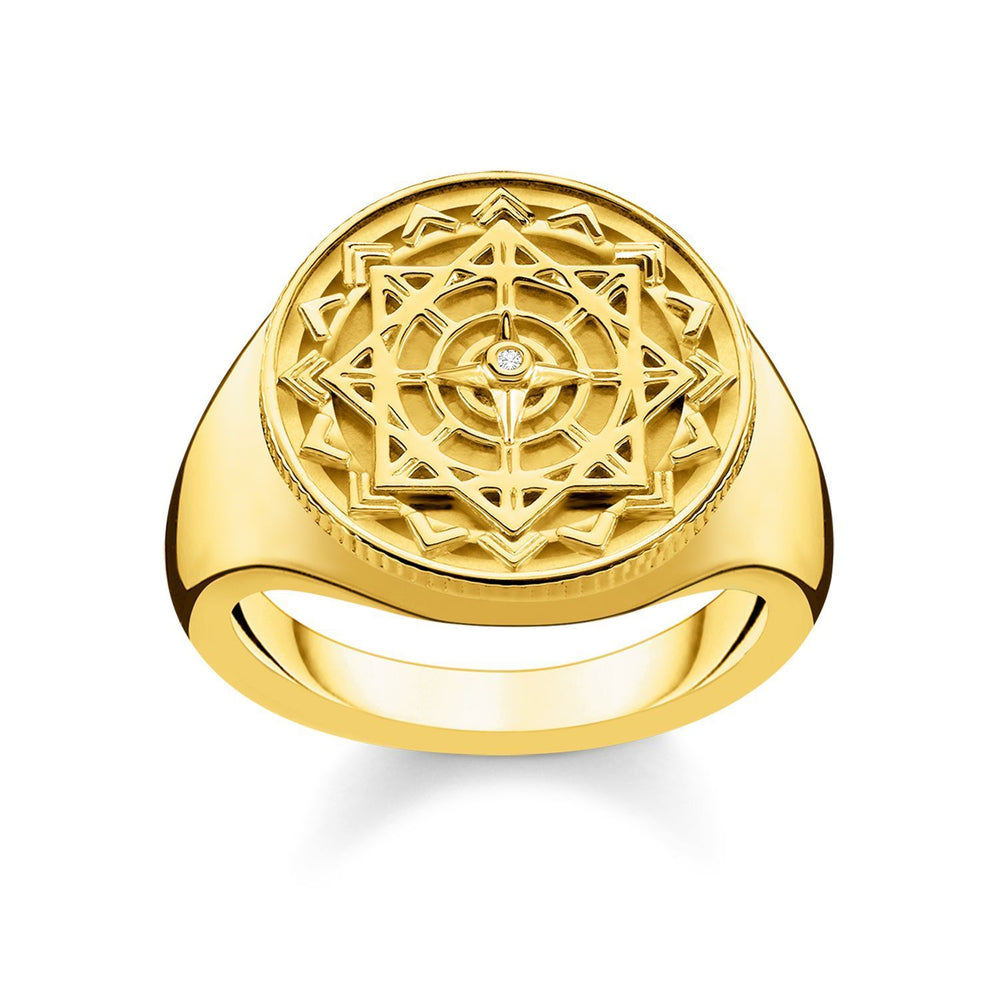 "Ring ""Vintage Compass Gold"" 