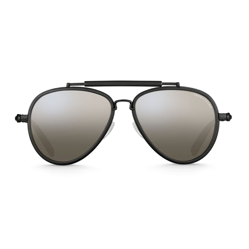 "Sunglasses ""Harrison"" Mirrored Skull Pilot 