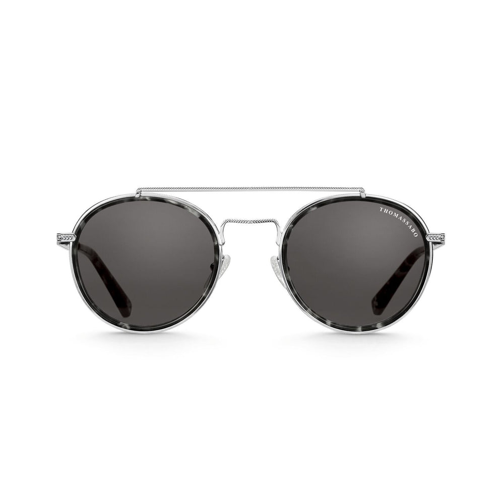 "Sunglasses ""Johnny"" Ethnic Havana Panto Not Polarised 