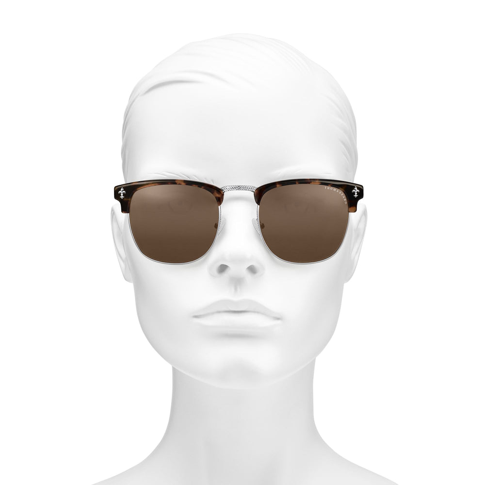 "Sunglasses ""James"" Lily Havana Trapeze Brown 