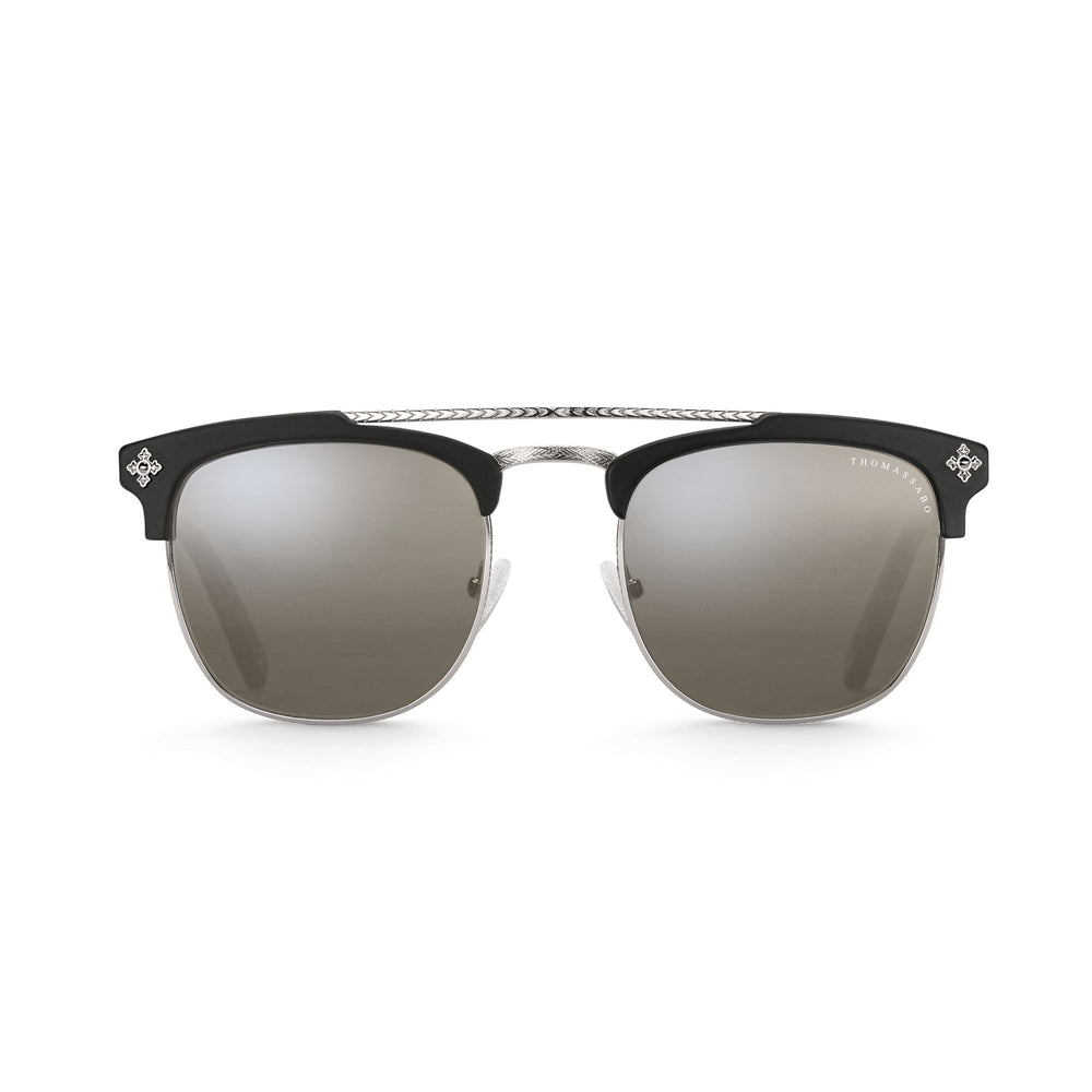 "Sunglasses ""James"" Mirrored Cross Trapeze 