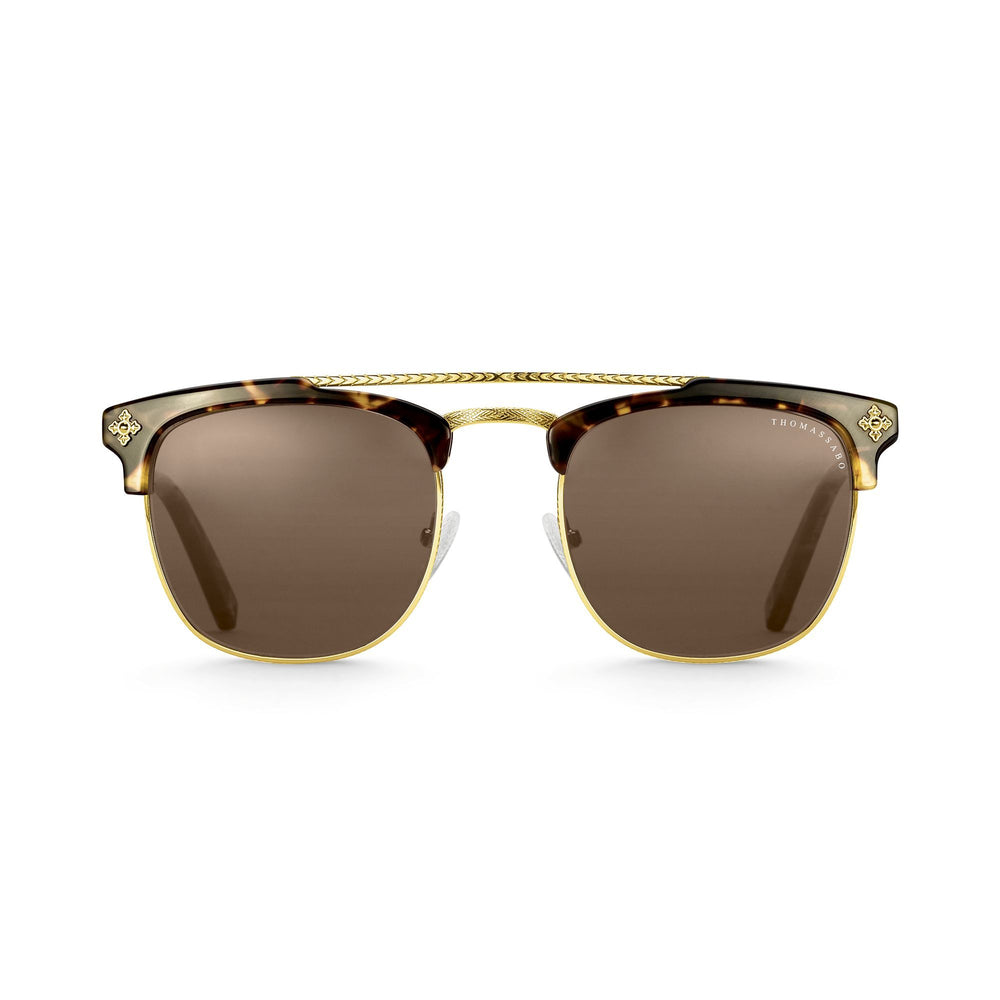"Sunglasses ""James"" Cross Havana Trapeze"