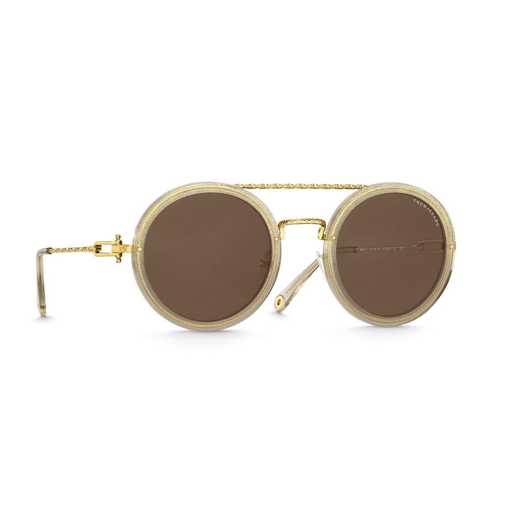 "Sunglasses ""Romy"" Iconic Round Brown 