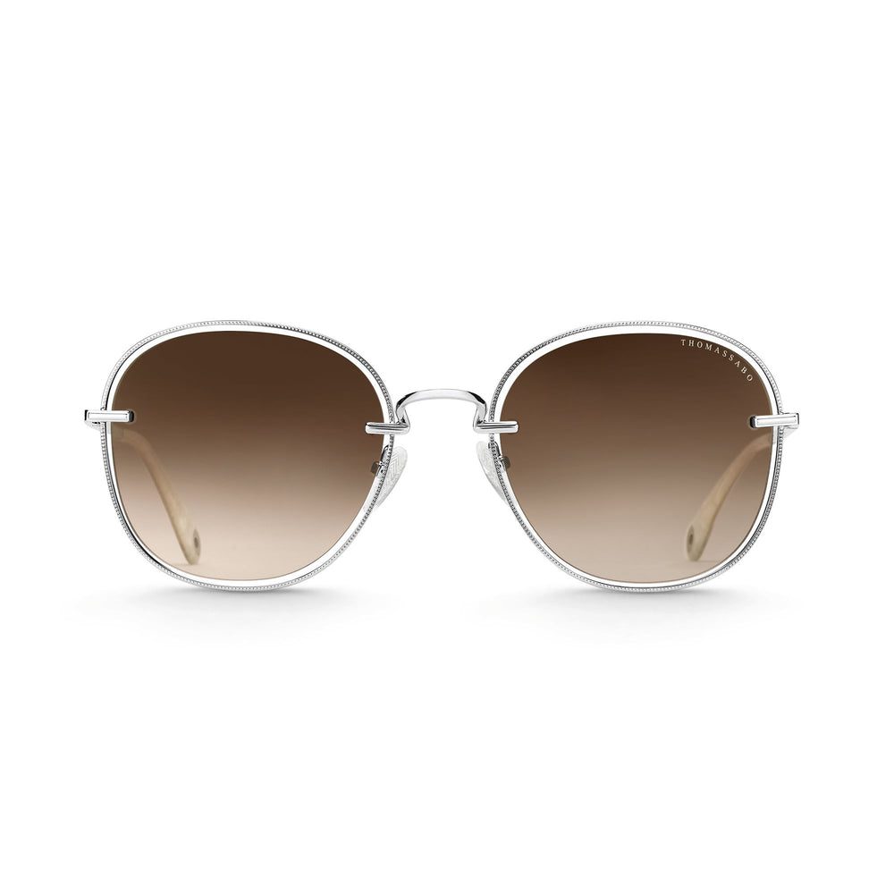 "Sunglasses ""Mia"" Brown Square 