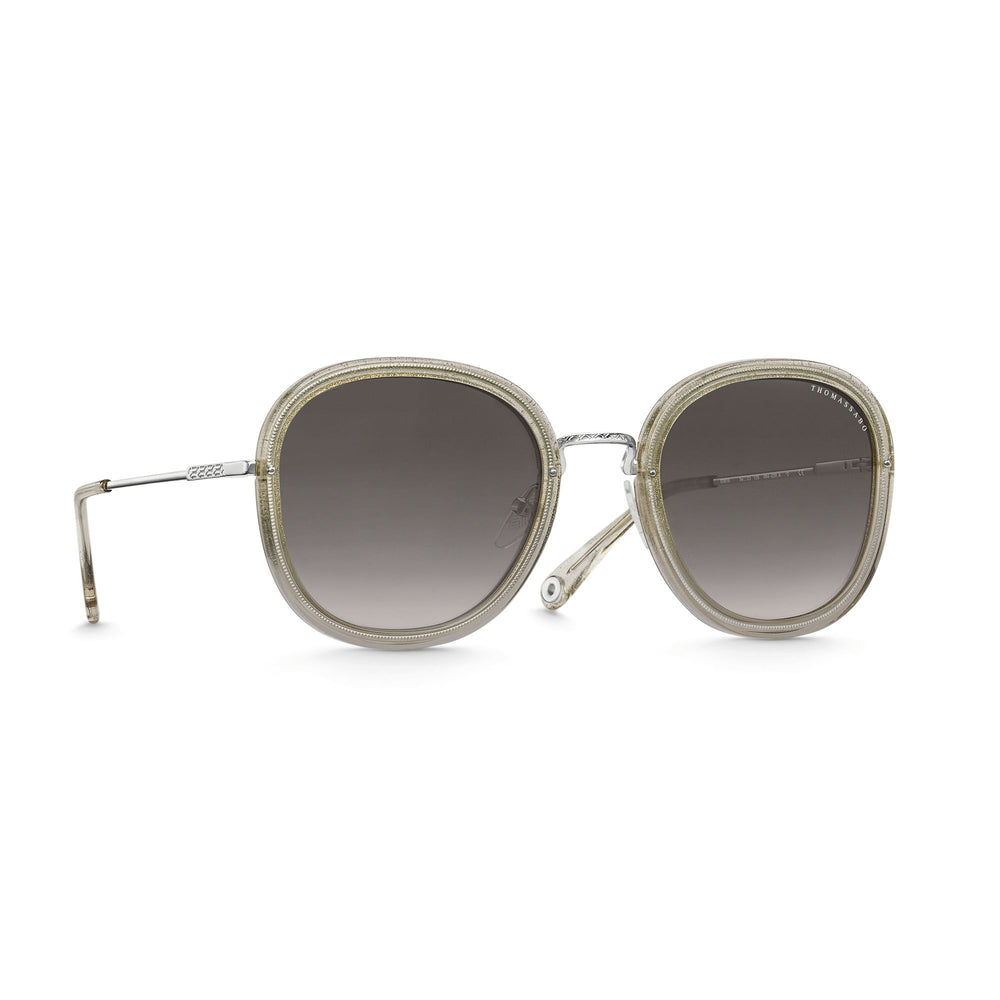 "Sunglasses ""Mia"" Pink Square Gold 