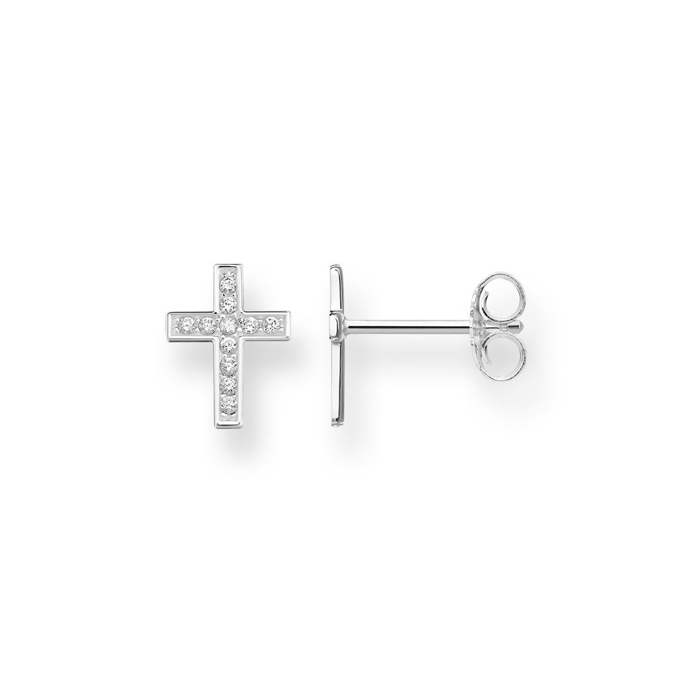 "THOMAS SABO Ear Studs ""Cross Pavé"""