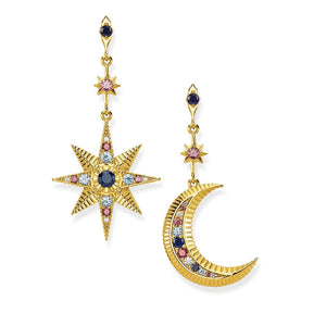 THOMAS SABO Royalty Star & Moon Earrings