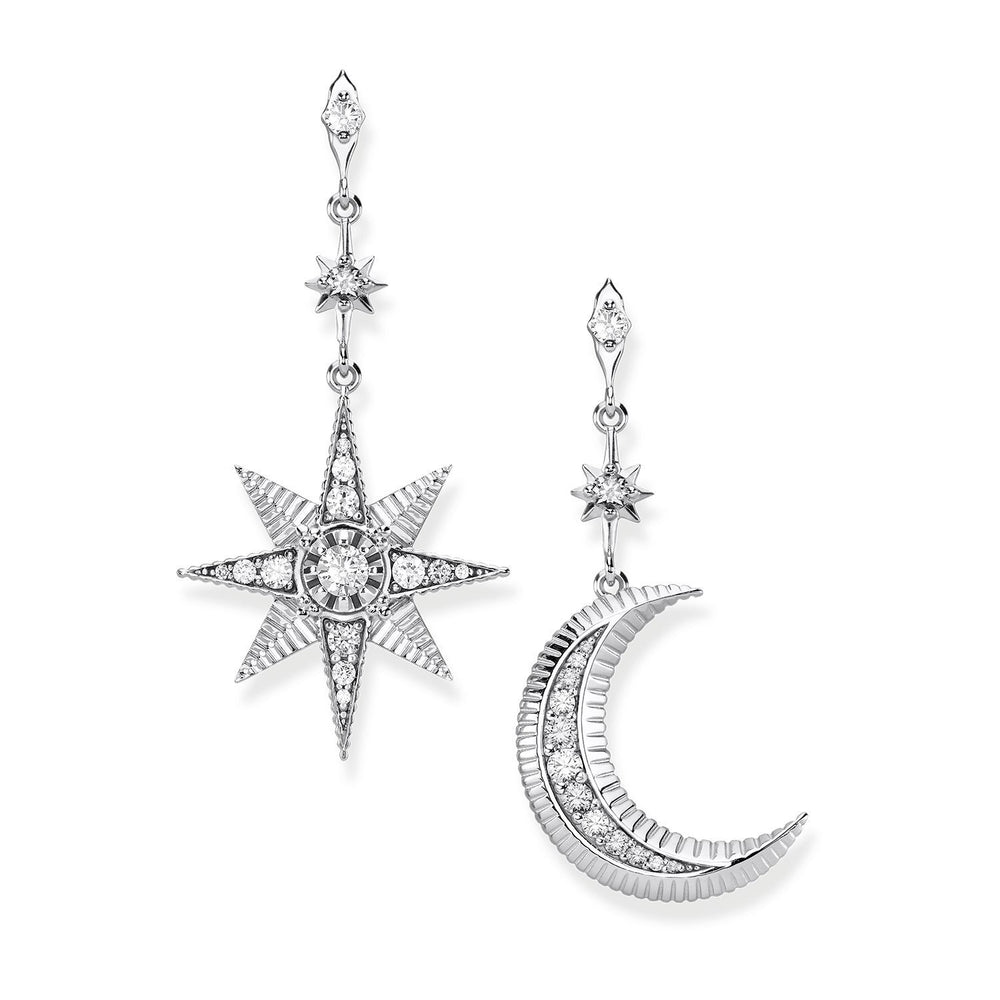 "THOMAS SABO Earrings ""Royalty Star & Moon"""